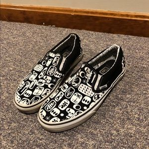 Men's Vans Black & White Patterned Shoe